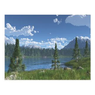 Retratamiento del lago mountain tarjetas postales