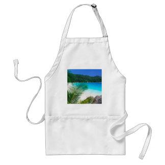 Retratamiento tropical Seychelles de la playa Delantal