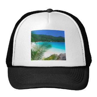 Retratamiento tropical Seychelles de la playa Gorras