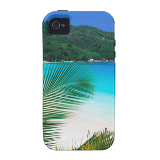 Retratamiento tropical Seychelles del agua iPhone 4 Carcasa