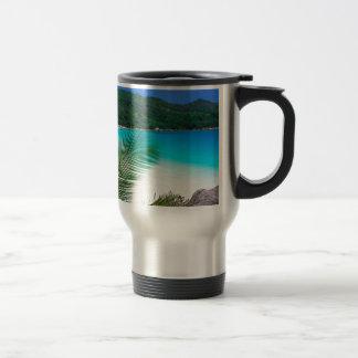 Retratamiento tropical Seychelles del agua Taza De Viaje De Acero Inoxidable