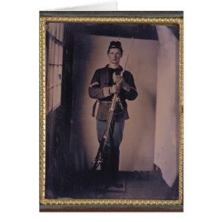 Retrato 001 de la guerra civil tarjeta de felicitación