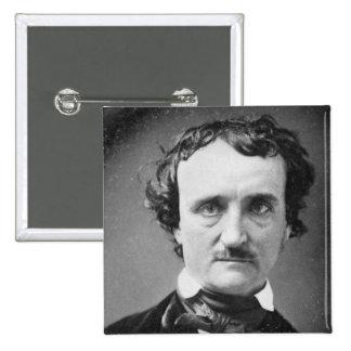 Retrato 1849 del ~ de Edgar Allan Poe Pin Cuadrado