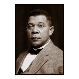Retrato 1856-1915 del Booker T Washington Poster
