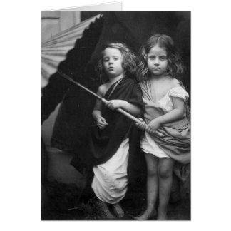 Retrato 1864 de los niños del de Paul y de Virgi Felicitación