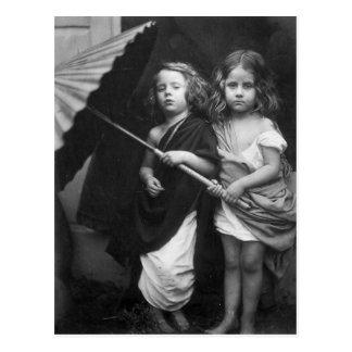 Retrato 1864 de los niños del ~ de Paul y de Virgi Tarjetas Postales