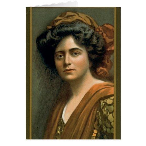 Retrato 1905 de Maxine Elliott de la actriz Tarjeta De Felicitación