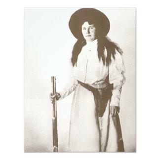 Retrato 1910 de la foto de una vaquera que invitación 10,8 x 13,9 cm