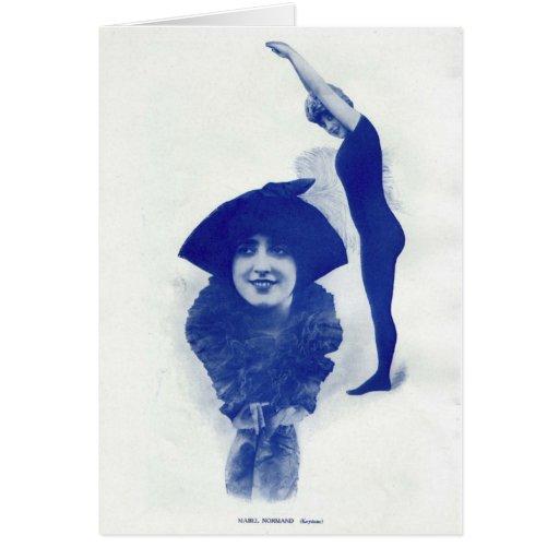 Retrato 1914 del vintage de Mabel Normand Felicitación