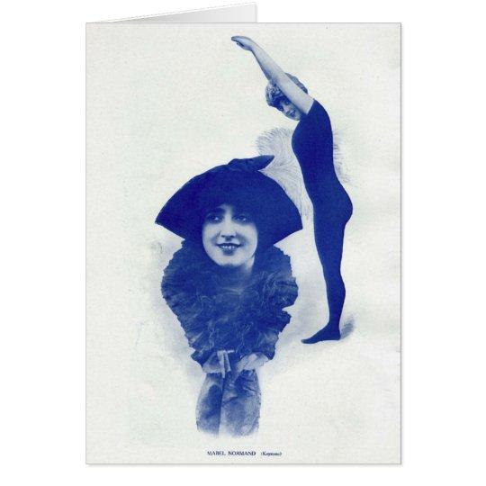 Retrato 1914 del vintage de Mabel Normand Tarjeta De Felicitación