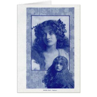 Retrato 1914 del vintage de Maude Fealy Tarjeta De Felicitación