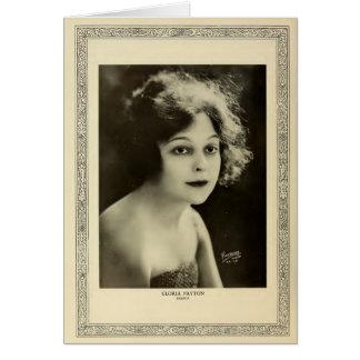Retrato 1915 del vintage de Gloria Payton Tarjeta De Felicitación