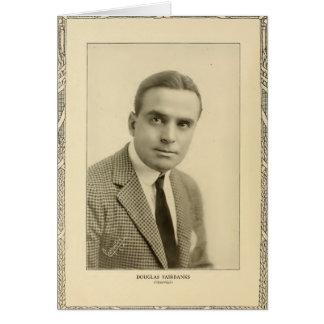 Retrato 1916 del vintage de Douglas Fairbanks Tarjeta De Felicitación