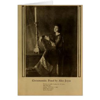 """Retrato 1919 de Alicia Joyce """"Christmastide"""" Tarjeta De Felicitación"""