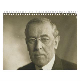 Retrato 1919 de presidente Woodrow Wilson Calendario De Pared