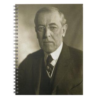 Retrato 1919 de presidente Woodrow Wilson Cuadernos