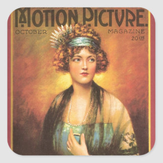 Retrato 1919 del vintage de Marion Davies Pegatina Cuadrada