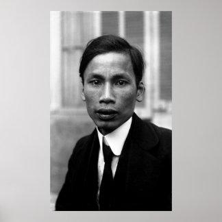 Retrato 1921 de Ho Chi Minh Nguyen Ai Quoc Póster