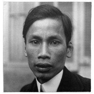 Retrato 1921 de Ho Chi Minh Nguyen Ai Quoc Servilleta Imprimida