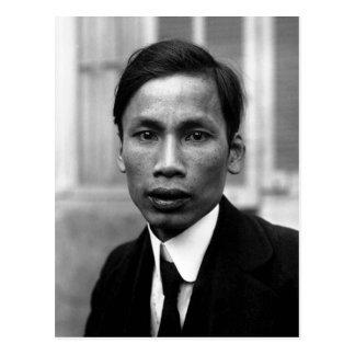 Retrato 1921 de Ho Chi Minh Nguyen Ai Quoc Tarjeta Postal