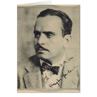 Retrato 1923 del vintage de Douglas Fairbanks Tarjeta De Felicitación