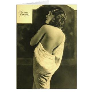 Retrato 1924 de Gloria Swanson Hurrell Tarjeta De Felicitación
