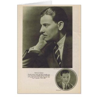 Retrato 1924 de Ronald Colman Tarjeta De Felicitación