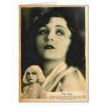 Retrato 1928 del encanto de Pola Negri Tarjetón