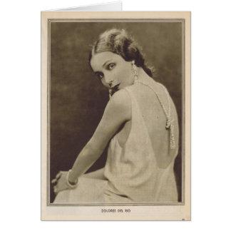 Retrato 1930 del vintage de Dolores Del Río Tarjeta De Felicitación