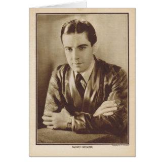 Retrato 1930 del vintage de Ramón Novarro Tarjeta De Felicitación