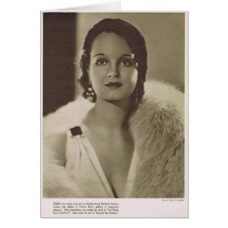 Retrato 1932 del vintage de Rochelle el Hudson Tarjetón