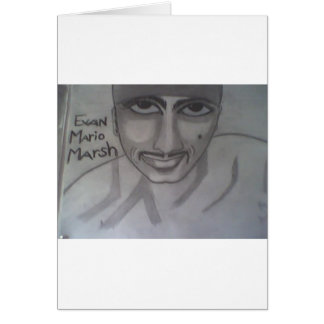 Retrato 2 de Evan Felicitación