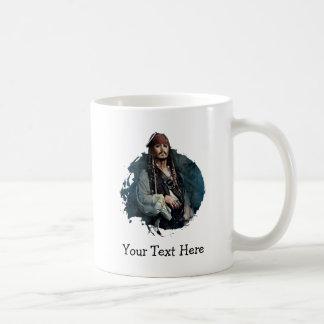 Retrato 2 de Jack Sparrow Taza Básica Blanca