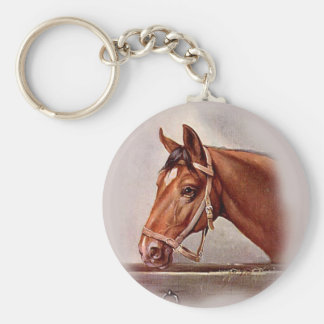 Retrato 2 del caballo llaveros
