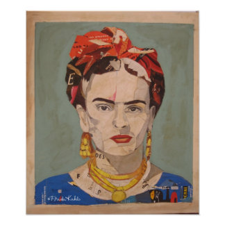 Retrato 2 del en Coyoacán de Frida Kahlo Poster