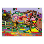 retrato 3 del caballo felicitación