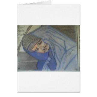Retrato 3 en tiza tarjetas