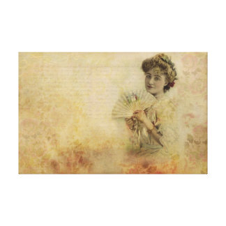 Retrato a partir de 1900 s de la actriz de la muje lienzo envuelto para galerías