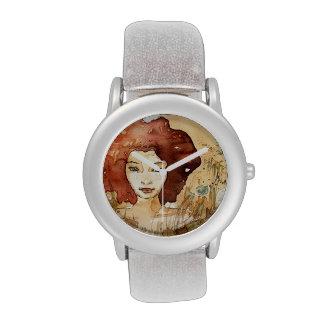 Retrato abstracto 3 relojes de mano