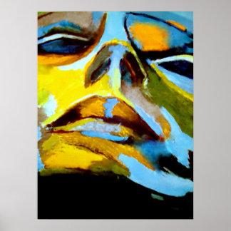 Retrato abstracto de una pintura de la mujer - el  impresiones