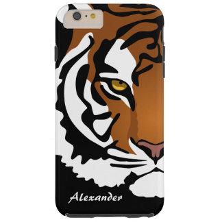 Retrato abstracto simple del tigre funda resistente iPhone 6 plus