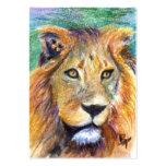 Retrato ACEO Artcard del león Tarjetas De Visita Grandes