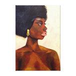 Retrato africano de la mujer de junio (arte de impresión en lienzo