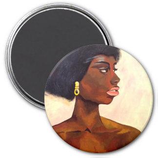 Retrato africano de la mujer de junio (arte de K.T Imanes De Nevera