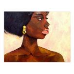 Retrato africano de la mujer de junio (arte de K.T Postal