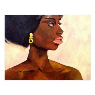 Retrato africano de la mujer de junio (arte de tarjeta postal
