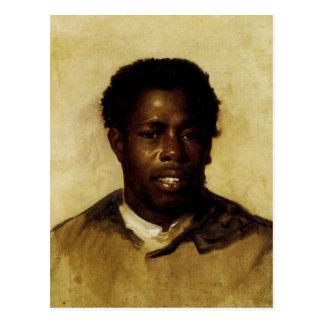 Retrato afroamericano tarjeta postal