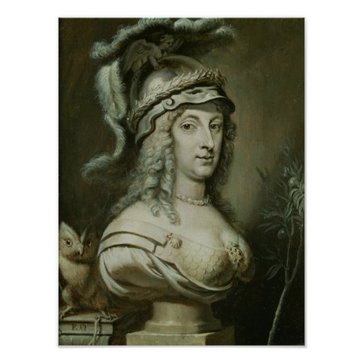 Retrato alegórico de la reina Christina de Póster