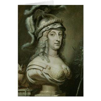 Retrato alegórico de la reina Christina de Tarjeta De Felicitación