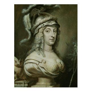 Retrato alegórico de la reina Christina de Tarjetas Postales